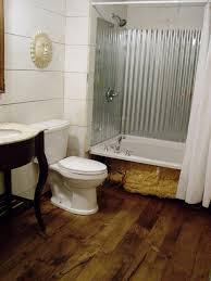 corrugated metal bathroom walls diy wide plank pine flooring corrugated shower tub