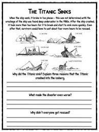 titanic facts titanic worksheets kidskonnect the titanic sinks