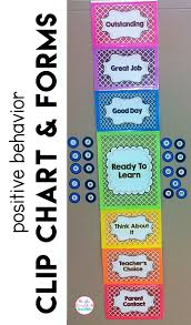 Behavior Chart And Forms Classroom Use Behavior Clip