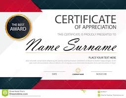 white certificate frame red black elegance horizontal certificate with vector