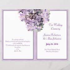 Wedding Program Designs Purple Hydrangea Template Wedding Program Zazzle Com