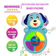 Đồ Chơi Điện Thoại Hình Chú Cún Baby Phone Bằng Nhựa An Toàn Cho Bé Đồ Chơi  Giáo Dục Benrikids