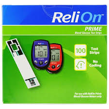 Blood Glucose Meter Compatibility With Lancets And Test Strips Chart Relion Prime Blood Glucose Test Strips 100 Ct Walmart Com