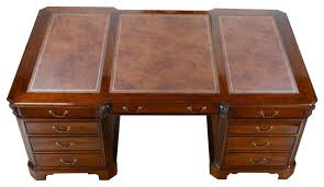 huge desk. Outstanding Niagara Furniture Large Mahogany Partner Desk Huge Leather Top Regarding Ordinary