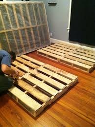 Awesome Pallet Bed Frame Plans 51 On Home Interior Decoration With