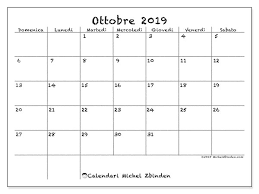 Calendario 2019 Ottobre Da Stampare Ikbenalles