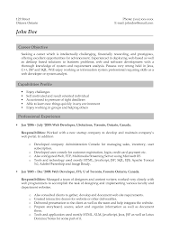 Excellent Web Developer Resume Template With Capabilities Profile And  Professional Experience