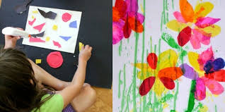 collage art ideas for kids with paper