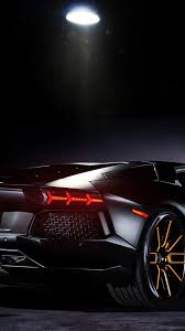 lamborghini aventador wallpaper hd black. lamborghini aventador black rear view 10801920 wallpaper hd