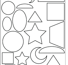 simple shapes coloring pages shape for preschoolers diffe