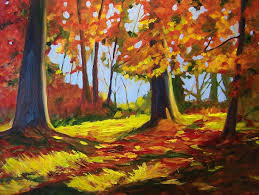 walk in the woods original american landscape oil painting