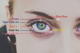 eye makeup area