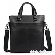 Men's Genuine Leather Tote <b>Bag</b> A4 <b>Black Cow</b> Leather Business ...