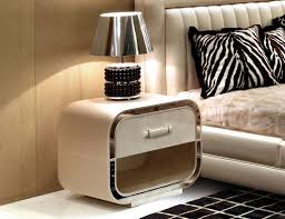 FurnitureVintage Simple White Wood Bedside Table Furniture Design Ideas  With Single Long Style Drawers