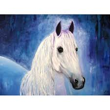 white horse oil painting original oil on canvas horse paintings