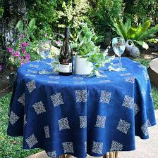 60 round tablecloths in cotton lovely hmong indigo batik cotton table cloth 60 90 inches round