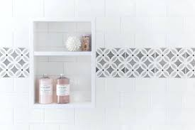 subway tile border plan beveled shower