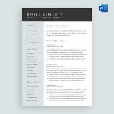 Resume Templates For Publisher Template Ms Word Resume Template The Rosie Resume Template