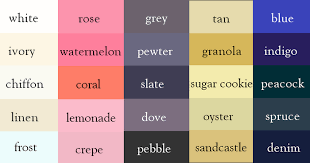 Color Chart With Names