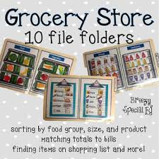 Grocery Store Product List Special Education Grocery Store File Folder Activities By Breezy