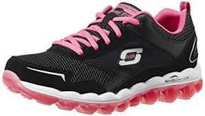 skechers amazon. skechers sport women\u0027s skech air rf fashion sneaker, black/hot pink, amazon