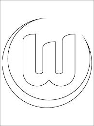 Kleurplaat Met Vfl Wolfsburg Logo Gratis Kleurplaten