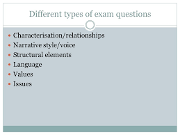 reading and responding essays night ppt video online  different types of exam questions