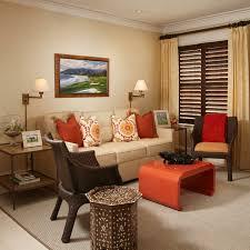 Beige And Orange Living Room On Interior Decoraitng Ideas