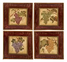 tuscan wall decor tuscan vineyard grapes ceramic wall plaques art decor set of 4 new on tuscan vineyard wall art with tuscan wall decor tuscan vineyard grapes ceramic wall plaques art