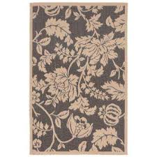 baxter blossom charcoal 5 ft x 8 ft indoor outdoor area rug