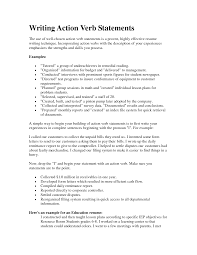 Resume Action Words And Phrases Action Verbs For Resumes Examples