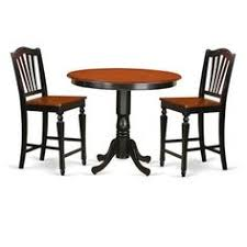 for black solid wood 3 piece counter height pub set get free delivery