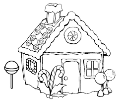 House Drawing Black And White At Getdrawings Simple House Coloring