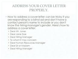 Cover Letter Can T Find Hiring Manager Name Dear Hiring Manager