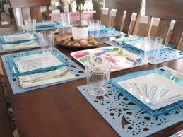 fascinating accessories for dining room decoration with table setting interesting blue dining room decoration