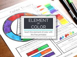 Get color codes and color schemes Free Elements Of Art And Color Wheel Worksheets Homeschool Giveaways