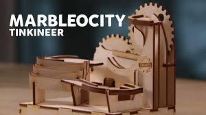 diy laser cut wooden marble run marbleocity you