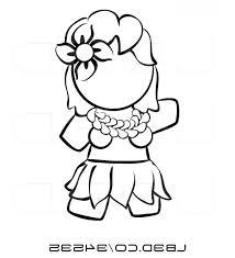 Vector Illustration Of Black And White Human Factor Hawaiian Hula