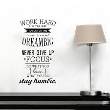 Work Motivational Quotes Fascinating English Character Words Encouragement Office Wall Sticker