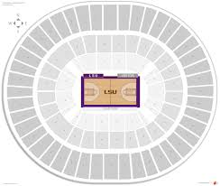 Lsu Seating Chart With Rows Pete Maravich Assembly Center Lsu Seating Guide
