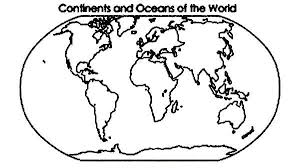 Small Picture Continent and Oceans of the World in World Map Coloring Page NetArt