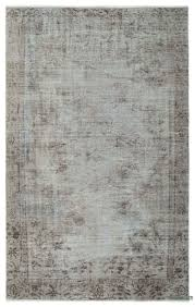 grey over dyed turkish vintage rug 5 7 x 8 10 67 in x 106 in
