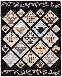 771 best Basket Quilts images on Pinterest   Fat quarters ... & Use of smaller blocks to fill spaces around edges of on-point set blocks.  Bountiful BasketsBasket QuiltFlower ... Adamdwight.com