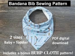 Bandana Bib Pattern New Bandana Bib Sewing Pattern Pdf Bandana Bib Bibdana Pattern Etsy