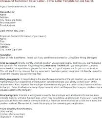 Sonographer Job Description Diagnostic Medical Cover Letter