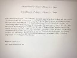 Diana Baumrinds Theory Of Parenting Styles Diana