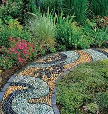 how to diy spiral mosaic stone garden path 2