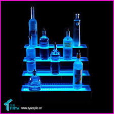 Bar Bottle Display Stand Bar Charming 100level Tabletop Liquor LED Bottle Display Shelf 24