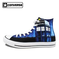 converse unisex. unisex shoes man woman converse chuck taylor police box galaxy stars design custom hand painted i