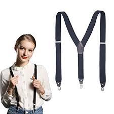 Women's Y-Back Suspenders 3 Metal Clip Fashion ... - Amazon.com